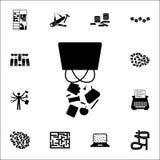 Disordine nell'icona della borsa delle donne insieme universale delle icone di caos per il web ed il cellulare illustrazione di stock