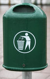 Disordine in rifiuti fotografia stock