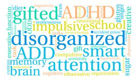 Disorganized Word Cloud. On a white background Stock Photography