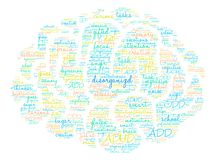 Disorganized Word Cloud. On a white background Royalty Free Stock Image