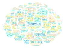 Disorganized Word Cloud. On a white background Stock Photo