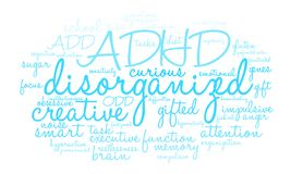 Disorganized Word Cloud. On a white background Royalty Free Stock Photography