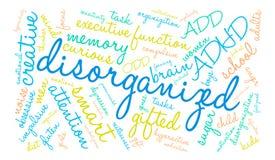 Disorganized Word Cloud. On a white background Royalty Free Stock Photo