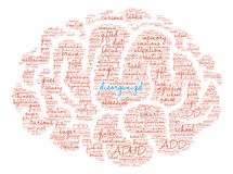 Disorganized Word Cloud. On a white background Royalty Free Stock Images