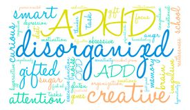 Disorganized Word Cloud. On a white background Royalty Free Stock Photos