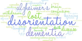 Disorientation Word Cloud. On a white background Royalty Free Stock Image