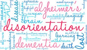 Disorientation Word Cloud. On a white background Royalty Free Stock Images