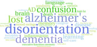 Disorientation Word Cloud Stock Image