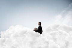 She is in dispair and isolation Royalty Free Stock Image
