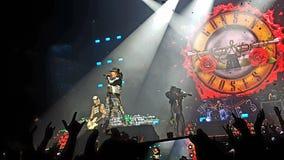 Dispara contra n' Rosas en concierto Imagen de archivo libre de regalías