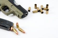 Dispara contra una munición Imagen de archivo libre de regalías