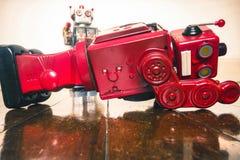 Disparado abaixo dos robôs Imagem de Stock
