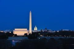Disparado da alameda nacional no crepúsculo foto de stock royalty free
