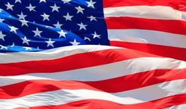 Disparado da bandeira dos EUA Imagens de Stock