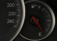 disparado de um velocímetro em um carro Imagem de Stock