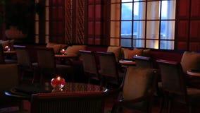 Disparado do interior luxuoso do hotel Amar Villas, Agra, Uttar Pradesh, Índia video estoque