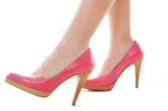 Disparado do pé e de sapatas 'sexy' com salto Foto de Stock Royalty Free