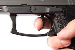 Disparador de la arma de mano Imagen de archivo