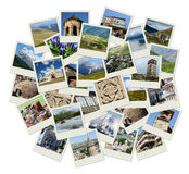 Disparaissent collage de la Géorgie - de l'Asie centrale avec des photos des points de repère Photographie stock libre de droits