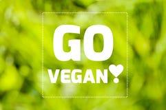 Disparaissent l'affiche de motivation de citation de vegan Photo stock