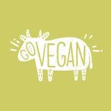 Disparaissent l'illustration de motivation de vegan illustration stock