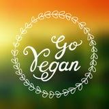 Disparaissent l'illustration de Vegan - symbole rond de vegan ou de végétarien Images stock
