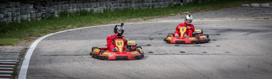 Disparaissent la concurrence de kart Photographie stock libre de droits