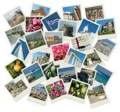Disparaissent la Grèce - fond avec des photos de course Images stock