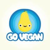 Disparaissent la poire de vegan Photo stock