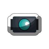 disparaissent la pro icône de caméra vidéo Photos libres de droits