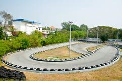 Disparaissent la voie de course de kart. Photo stock