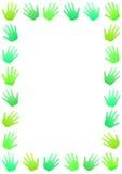 Disparaissent le cadre vert d'environnement de mains illustration stock