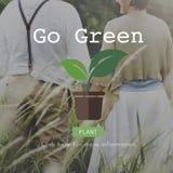 Disparaissent le concept de jardinage d'environnement de la vie verte de conservation Photos libres de droits