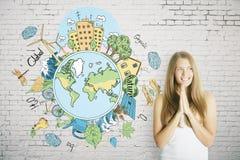 Disparaissent le concept vert Photos libres de droits