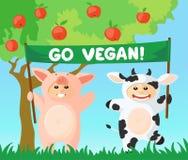 Disparaissent le drapeau de vegan Photographie stock