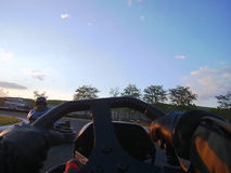 Disparaissent le kart à bord Photo stock