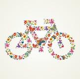 Disparaissent le vélo vert d'icône de ressort Images stock