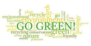 Disparaissent le vert ! Photographie stock libre de droits