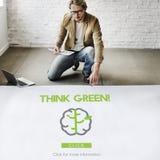Disparaissent le vert régénèrent pensent le concept vert Image libre de droits