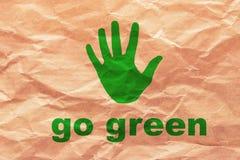 Disparaissent le vert sur le papier d'emballage Photos libres de droits