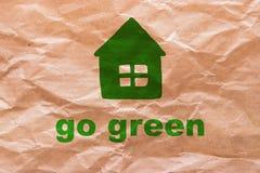 Disparaissent le vert sur le papier d'emballage Photo libre de droits
