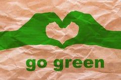Disparaissent le vert sur le papier d'emballage Photo stock