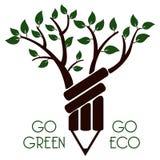 Disparaissent le vert vont eco Images libres de droits