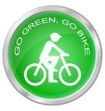Disparaissent le vert vont vélo Photographie stock