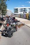 Disparaissent les chariots sur l'affichage photographie stock