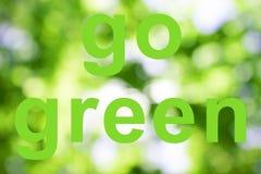 Disparaissent les mots verts Photographie stock libre de droits