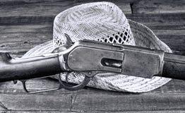 Dispare contra que ganado el oeste Imagen de archivo libre de regalías