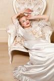 Disparou dentro no estilo de Marie Antoinette Imagens de Stock Royalty Free