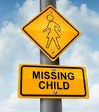 Disparus d'enfant Images libres de droits