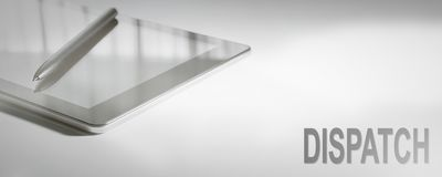 DISPATCH Business Concept Digital Technology. Graphic Concept stock photos